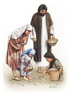 As roupas nos dias de Jesus - imagem de pessoas com roupas dos tempos bíblicos