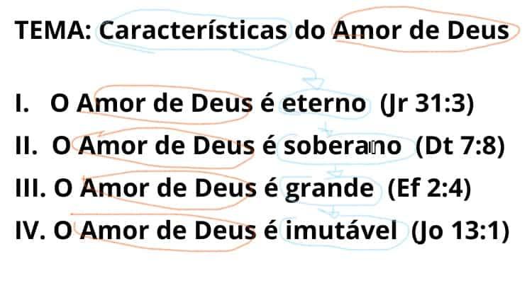 esboço de sermão temático sobre o amor de Deus