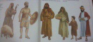 imagem de pessoas com chapéu e roupas nos tempos biblicos