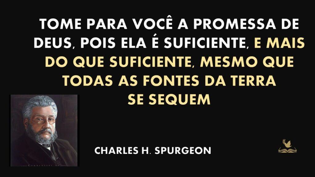 FRASE DE CHARLES SPURGEON SOBRE PROMESSA