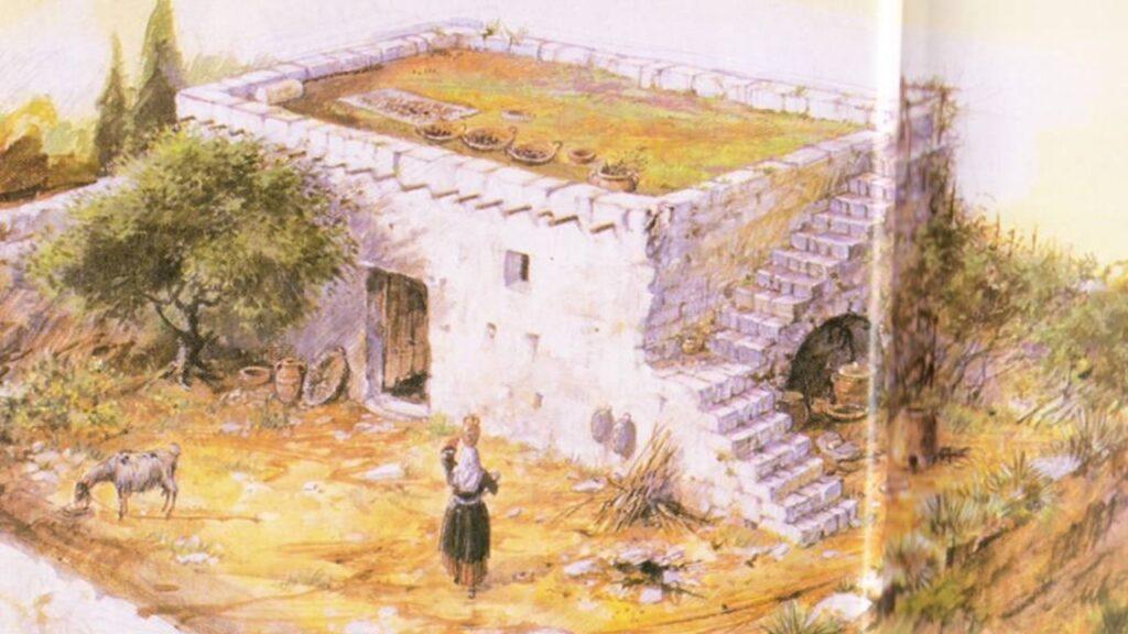 CASA DE TIJOLOS NOS TEMPOS BÍBLICOS-HISTÓRIA DOS HEBREUS - HABITAÇÕES