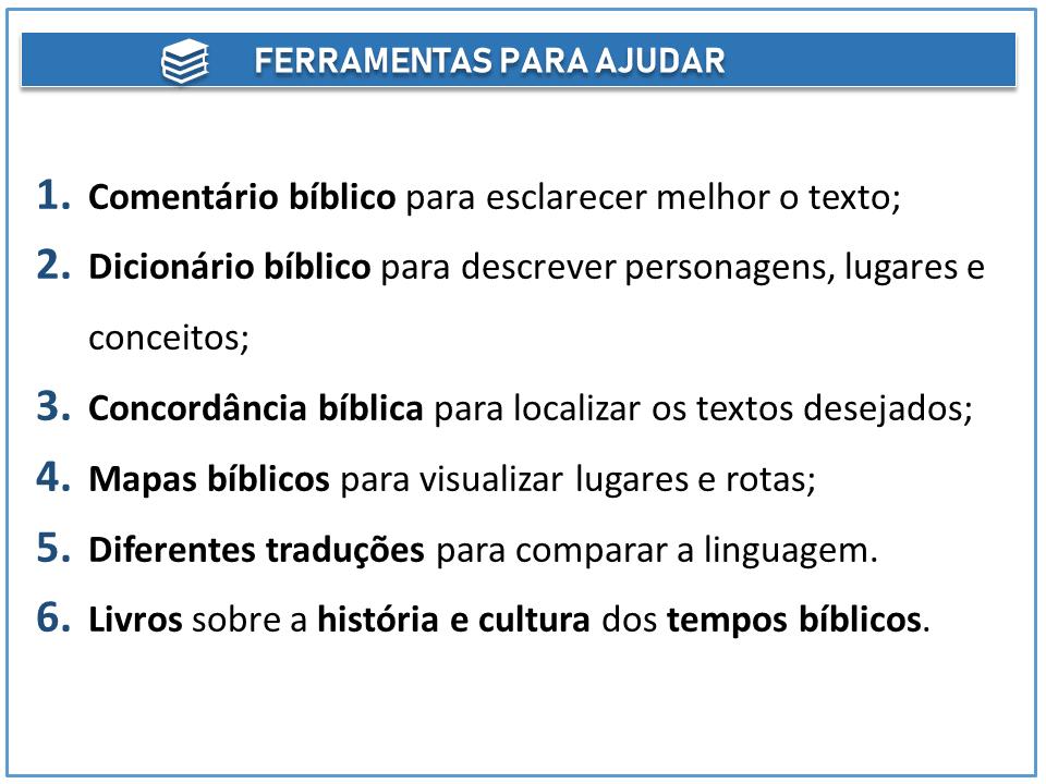 ferramentas para ajudar na interpretação do texto