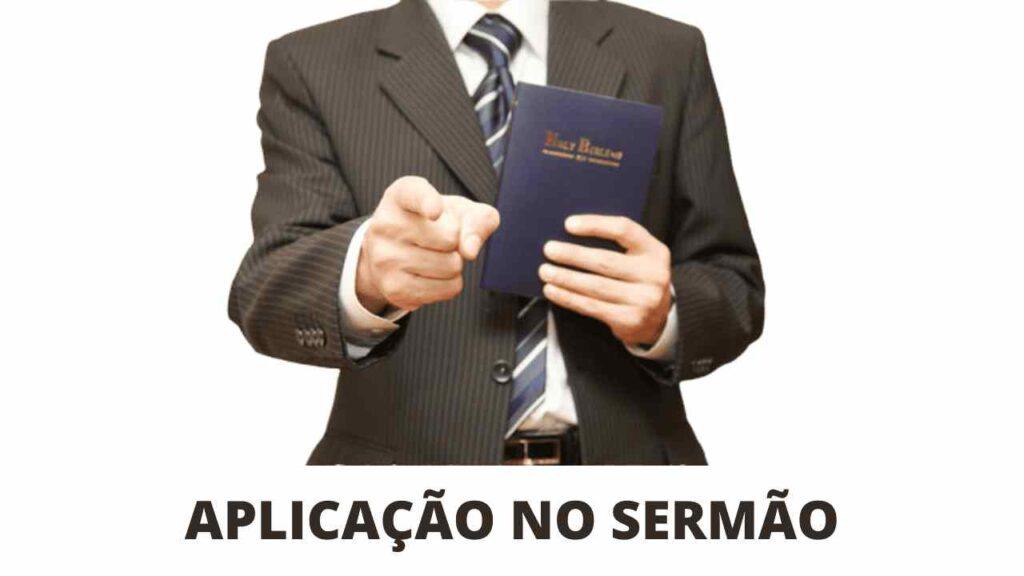 HOMEM COM BÍBLIA NA MÃO APLICAÇÃO NO SERMÃO