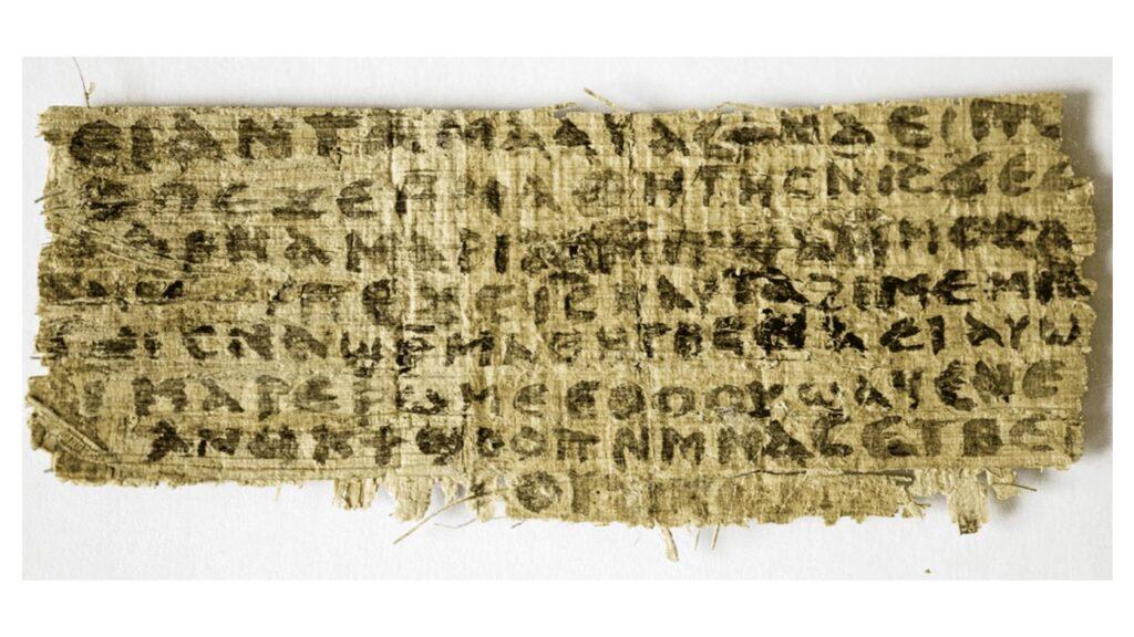 PAPIROS E MANUSCRITOS DA BÍBLIA