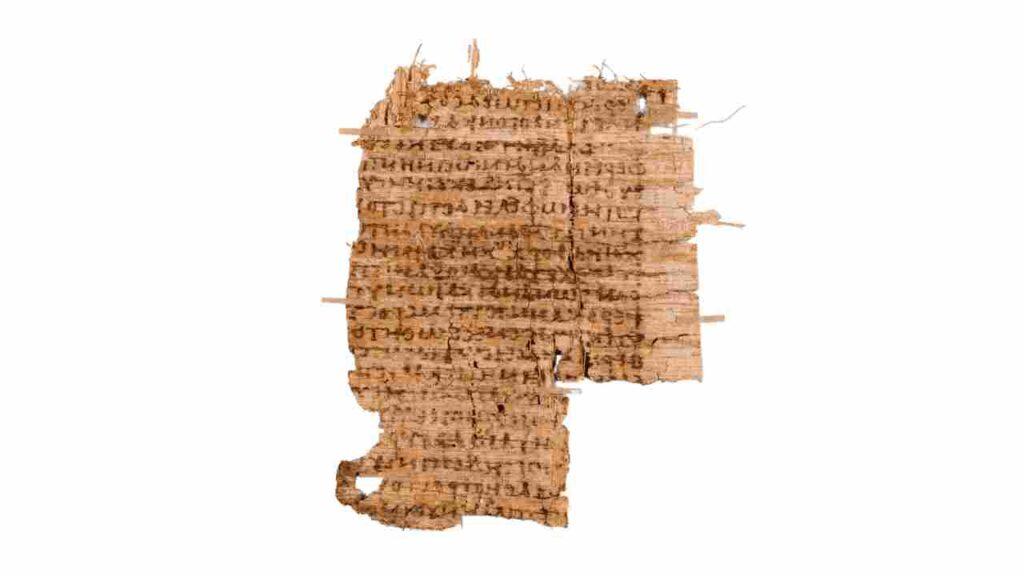 papiro - material usado para escrituras sagradas