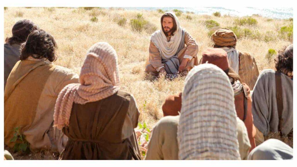 Jesus ensinando para as famílias