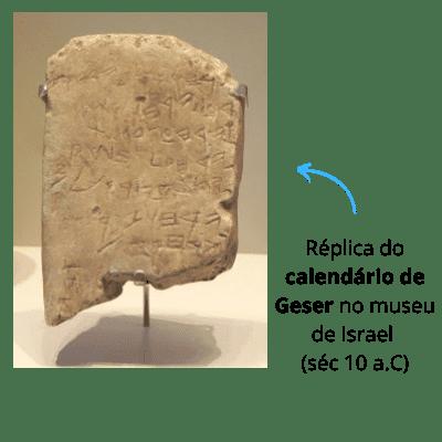 calendário de gezer-agricultura na bíblia
