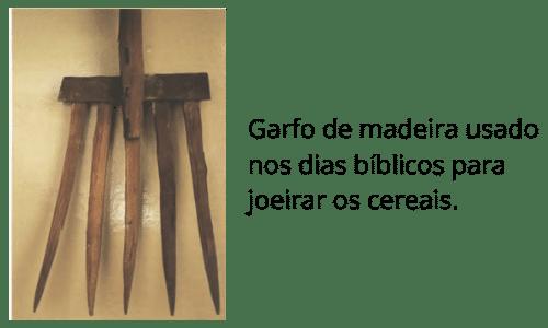 garfo de madeira usado na agricultura dos tempos bíblicos