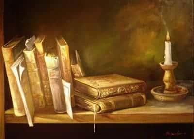 biblioteca no esnino dos tempos bíblicos