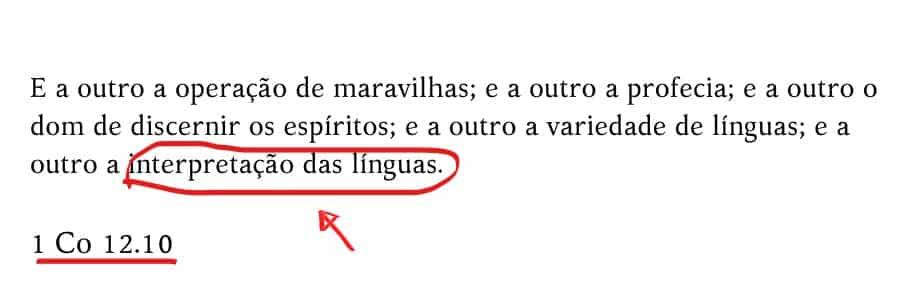 interpretação de linguas