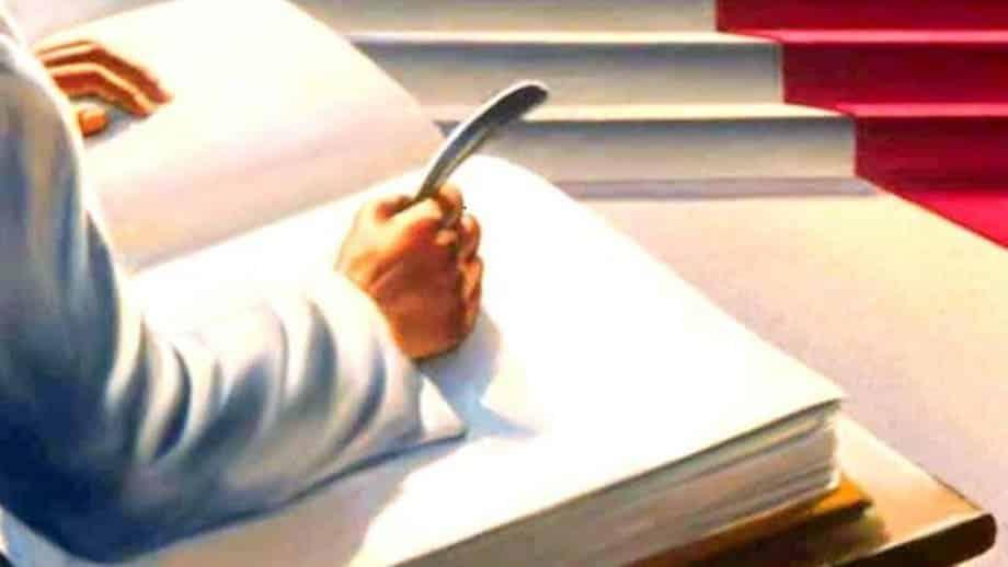 nome escrito no livro da vida