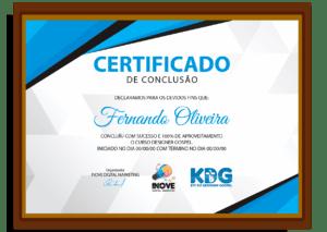 certificado do curso designer kit gospel