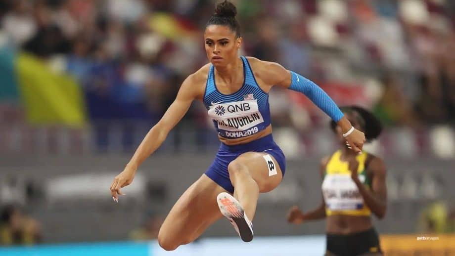 atleta olímpica de atletismo